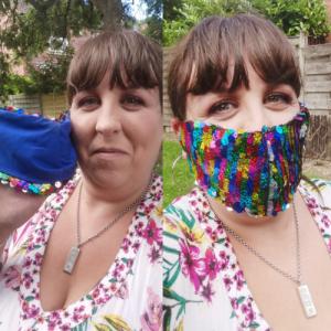 makeup under mask